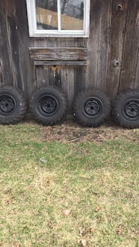 2010 Suzuki King quad tires and rims taken off new bike