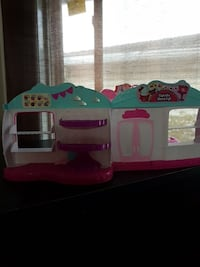 white-teal-and-pink doll house