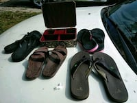 pair of black-and-red Nike sandals Knoxville, 37912