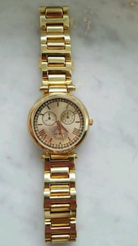 round gold Michael Kors chronograph watch with link bracelet Pittsburgh, 15206