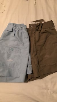 2 Pair of  Aftco Fishing Shorts barely worn  (mens 28in waist)