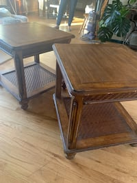 Matching retro side tables (24x24)
