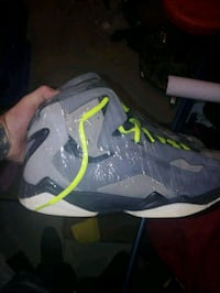 pair of gray-and-green Nike basketball shoes Fostoria, 44830