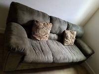 Gray fabric 3-seat sofa. No damage very comfortable gently used durable fabric - shipping moving your own Folsom, 95630