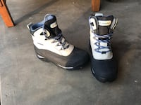 pair of white-and-black Columbia snow boots size 8 Westminster, 80021