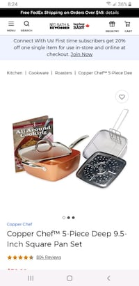 Copper Chef 5 piece set - Brand new in box Vaughan, L4H 0X3