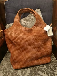 brown and red leather hobo bag Columbia, 21044