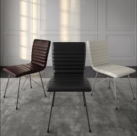 Leather Dining Chairs - Brown, White, and Black   Toronto, M9L 2S5
