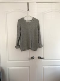 grey crew neck sweater Vaughan