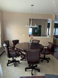 Card table with 3 functional options, CHAIRS INCLUDED