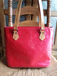Louis Vuitton Pink Vernis Patent Leather Houston Tote Bag
