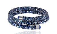 New crystal energy Swarovski elements double wrap bracelets 640 km