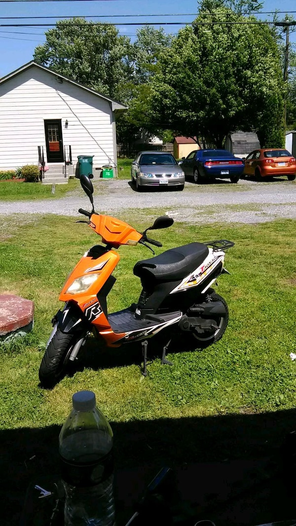 Used Orange And Black Motor Scooter For Sale In Richmond
