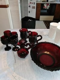 red and black ceramic dinnerware set Stephens City, 22655