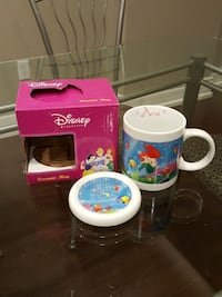 Disney Princess ceramic mug with lid - new