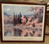 Pond in Autumn artwork beautiful framed must go by weekend Gainesville, 20155