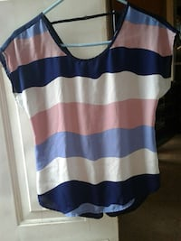 blue, white and pink stripes sheer shirt Indianapolis, 46241