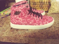 pair of pink-and-white high top sneakers Spring Grove, 17362