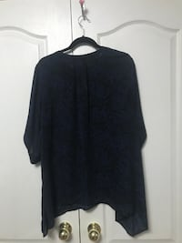 Navy Blue Torrid shirt with keyhole neckline Vaughan
