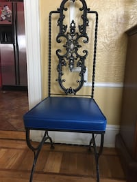 Wrought Iron blue chair New York, 11378