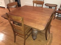 100 year old solid oak antique dining room table w/ chairs Fort Belvoir, 22060