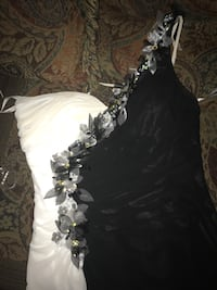 Black and white Cinderella gown