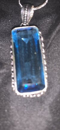 Sapphire solid silve necklace