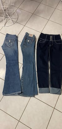 All 3 jeans $40,size 0 and 3,Size S Calgary, T2B 3G1