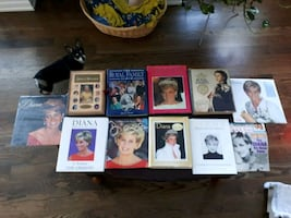 Collection of hard cover books all Royal family an