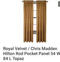 JC Penney Chris Madden Home Collection, set of 10 Rod pocket panels Stafford Courthouse, 22556