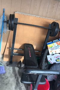 Bench 120pound weights INCLUDED