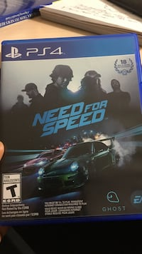 Need for Speed PS4 game  Kamloops, V0E 2A0