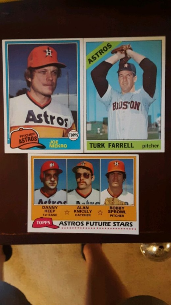 Astros Baseball Cards 1966 And 1981 Topps