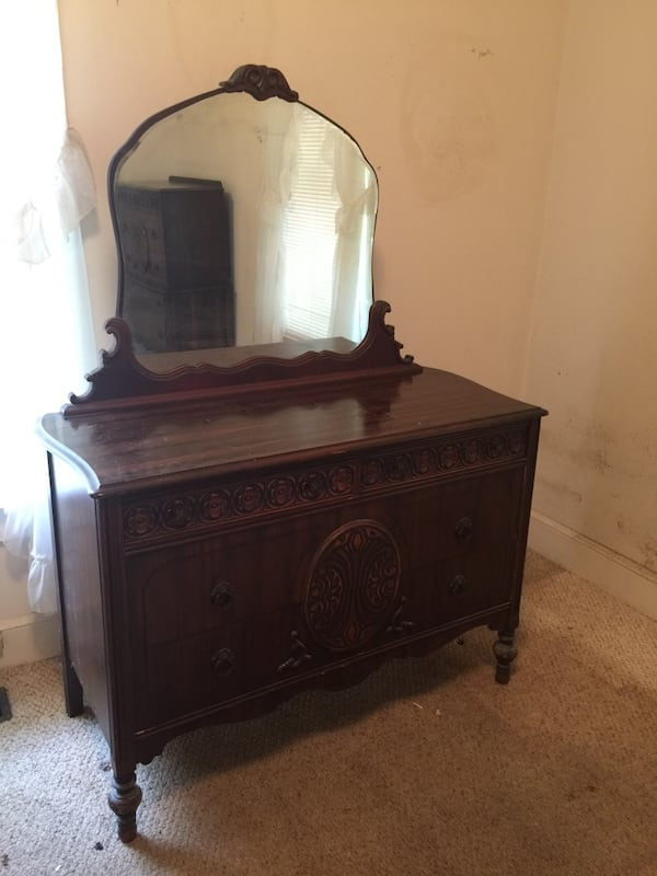 Antique dresser w/ mirror & upright chest- $175 1be7c781-4202-4be5-ba40-3b3324723609