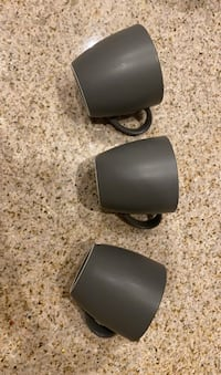 Three Coffee Mugs Gray IKEA