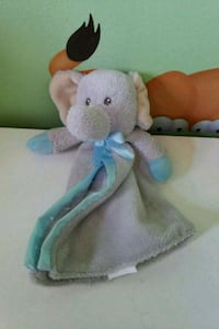 white and blue elephant blanket toy Brampton, L6S 1P7