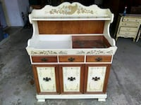 """ETHAN ALLEN Decorated Hitchock Style 40"""" Dry Sink"""