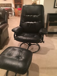 Black reclining leatherette chair and ottoman Ellicott City, 21042