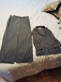 Grey skirt and jacket . Suit Laval, H7L 5Y7