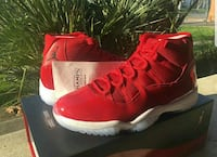 gym red Air Jordan 11 shoes with box