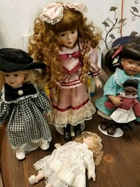 Porcelain dolls 4 real nice