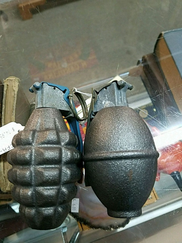 Inert Hand-Grenades Novelty, great for plaques!