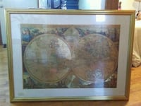 brown wooden framed painting of brown and white ceramic bowl