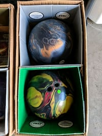 Bowling balls for sale.