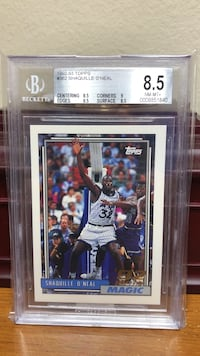 Shaquille O'Neal 1992-93 Topps #362 Rookie card BGS 8.5 Gulfport, 39503