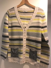 yellow, gray, and black striped cardigan Los Angeles, 90049