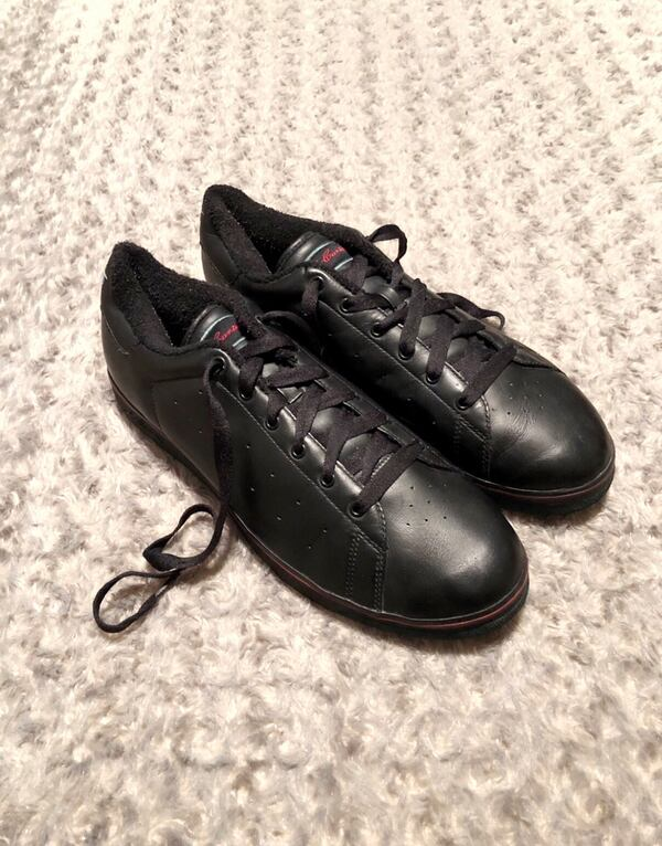 Sean Carter's (S DOTS) size 12 normal wear. Pretty good condition. A little creasing on the leather.  d39cdc31-60f6-4b14-8970-b69531627f88