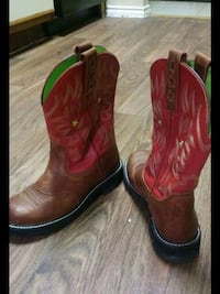 pair of red leather cowboy boots  Carrollton, 75006