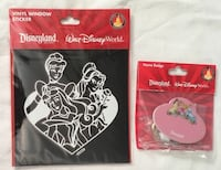 RARE disney disneyland PRINCESS name badge pin magnet or keychain + car decal sticker - NEW Tustin, 92782
