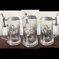 Hand Painted Pewter glass